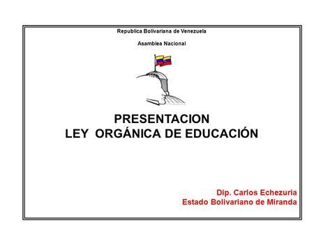 LA EDUCACIÓN BOLIVARIANA Fundamentación Fundamentación ...