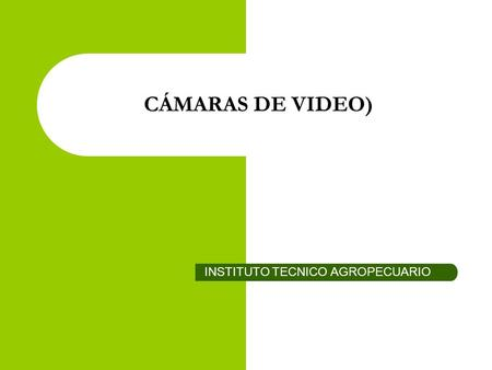 CÁMARAS DE VIDEO) INSTITUTO TECNICO AGROPECUARIO.
