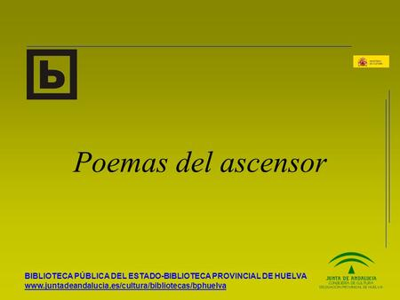 Poemas del ascensor.