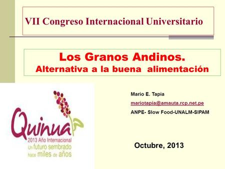 VII Congreso Internacional Universitario
