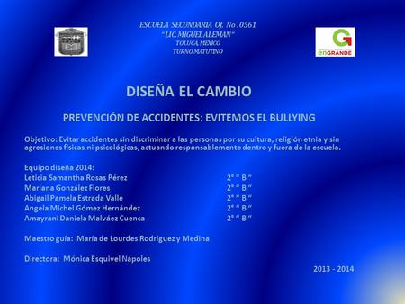 PREVENCIÓN DE ACCIDENTES: EVITEMOS EL BULLYING