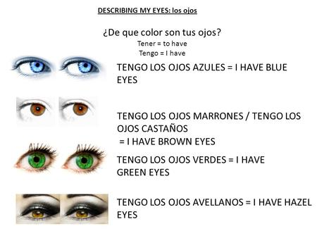 DESCRIBING MY EYES: los ojos