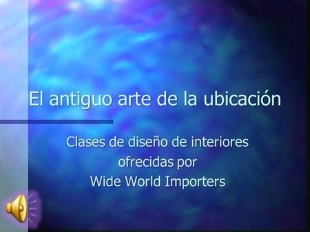 Clases de dise o de interiores ofrecidas por wide world for Clases de diseno de interiores