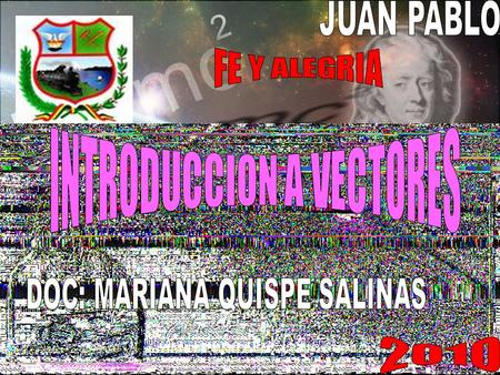 INTRODUCCION A VECTORES