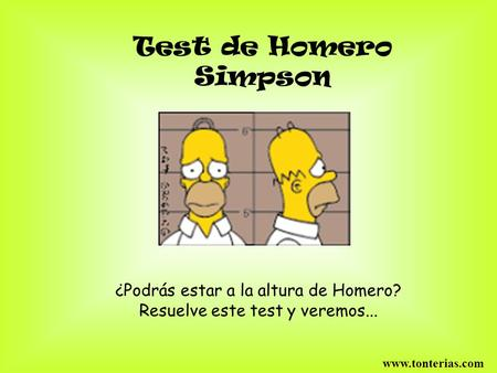 Test de Homero Simpson ¿Podrás estar a la altura de Homero?