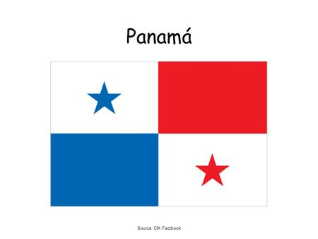 Panamá Source: CIA Factbook.