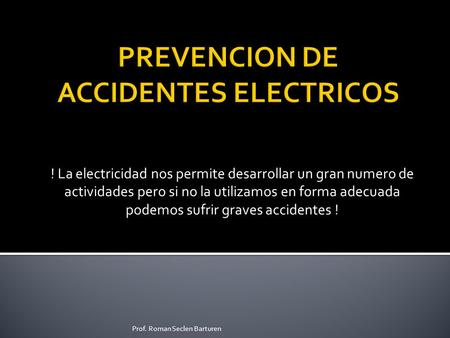 PREVENCION DE ACCIDENTES ELECTRICOS
