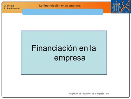 Financiación en la empresa