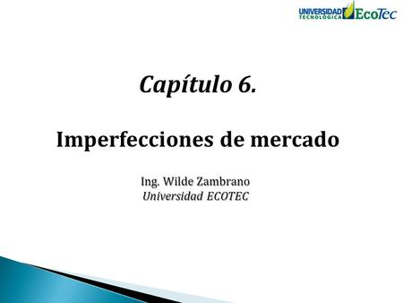 Imperfecciones de mercado