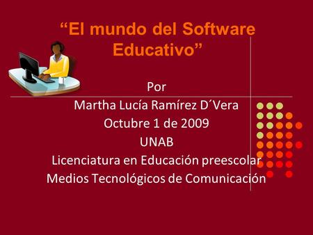 """El mundo del Software Educativo"""