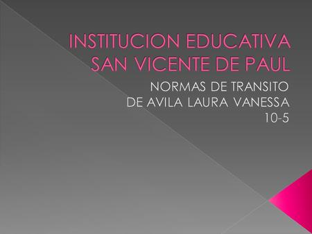 INSTITUCION EDUCATIVA SAN VICENTE DE PAUL