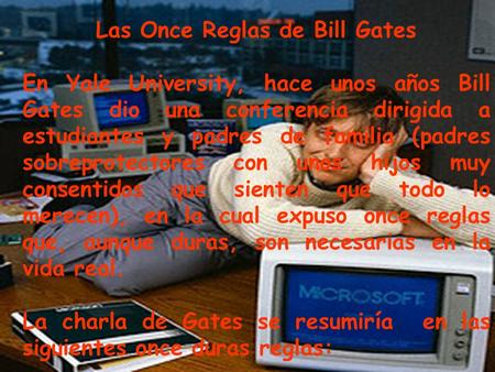 Las Once Reglas de Bill Gates