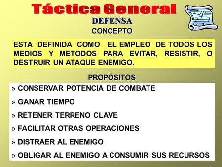Táctica General DEFENSA CONCEPTO