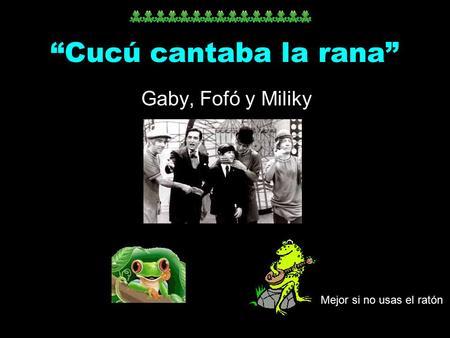 Descargar El Video De Cucu Cantaba La Rana Download