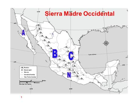 Sierra Madre Occidental 1. Yucatan Peninsula 2 Baja California 3.