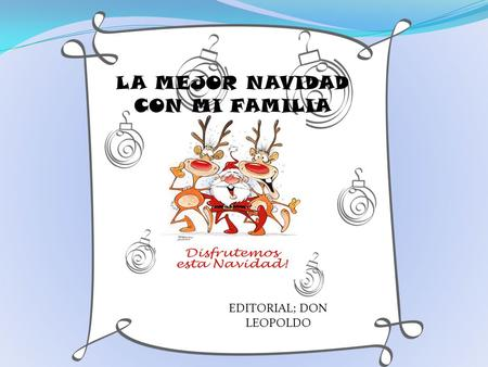 EDITORIAL; DON LEOPOLDO