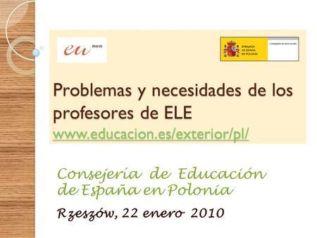 Aproximaciones en los programas de la acci n educativa for La accion educativa en el exterior