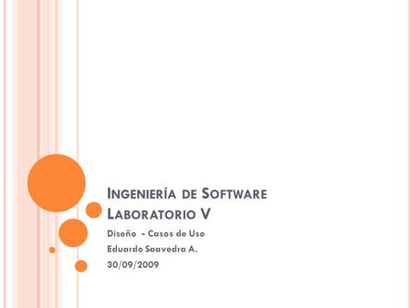 Ingeniería de Software Laboratorio V