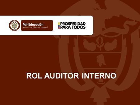 ROL AUDITOR INTERNO.