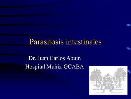 Parasitosis intestinales