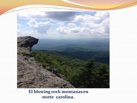 El blowing rock montanas en norte carolina.. un apacible lago en washington municipio.