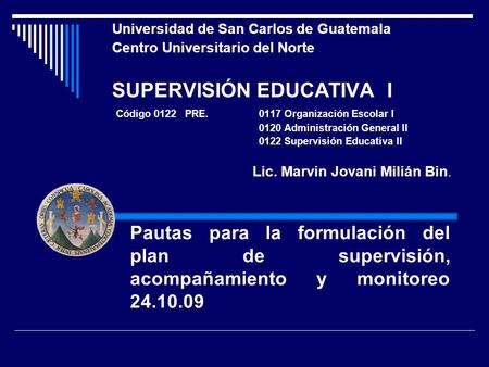 SUPERVISIÓN EDUCATIVA I