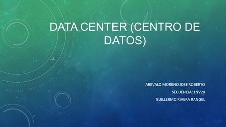 Data Center (Centro de datos)