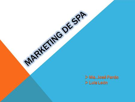 Marketing de spa Ma. José Pardo Luis León.