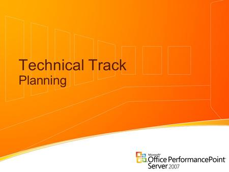 Technical Track Planning. Planning in PPS Alejandro Leguizamo SQL Server MVP, Mentor Solid Quality Mentor