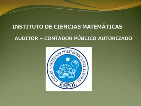 INSTITUTO DE CIENCIAS MATEMÁTICAS