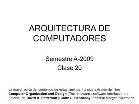 Arquitectura de computadores i ppt descargar for Arquitectura de computadores