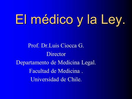 Departamento de Medicina Legal.