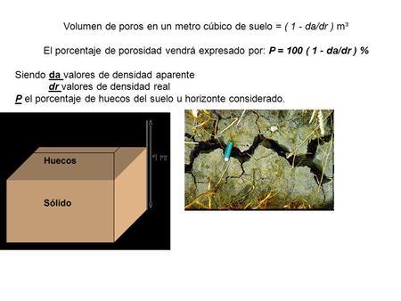 Porosidad la porosidad es otra de las propiedades for Cuantas tilapias por metro cubico