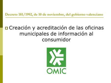 Proyecto de creaci n del centro de atenci n municipal a la - Oficina del consumidor en bilbao ...