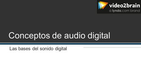 Conceptos de audio digital