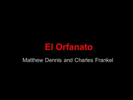 Matthew Dennis and Charles Frankel