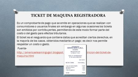 TICKET DE MAQUINA REGISTRADORA