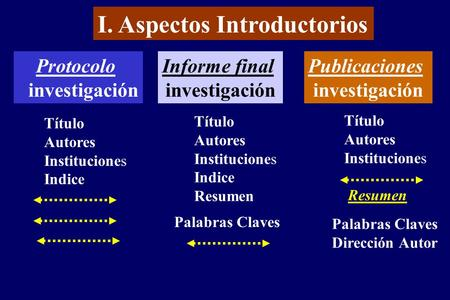 I. Aspectos Introductorios
