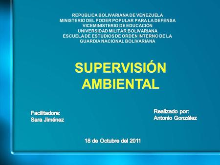SUPERVISIÓN AMBIENTAL