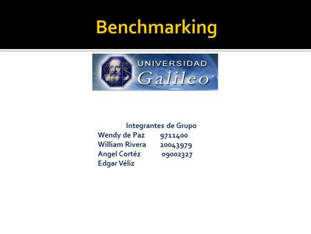 Benchmarking Integrantes de Grupo Wendy de Paz