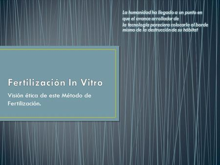 Fertilización In Vitro