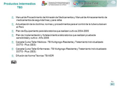 Productos Intermedios TB3