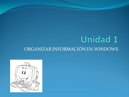 ORGANIZAR INFORMACIÓN EN WINDOWS