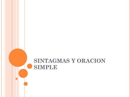 Funciones del sintagma nominal y modificadores