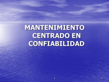 CENTRADO CONFIABILIDAD PDF MANTENIMIENTO EN
