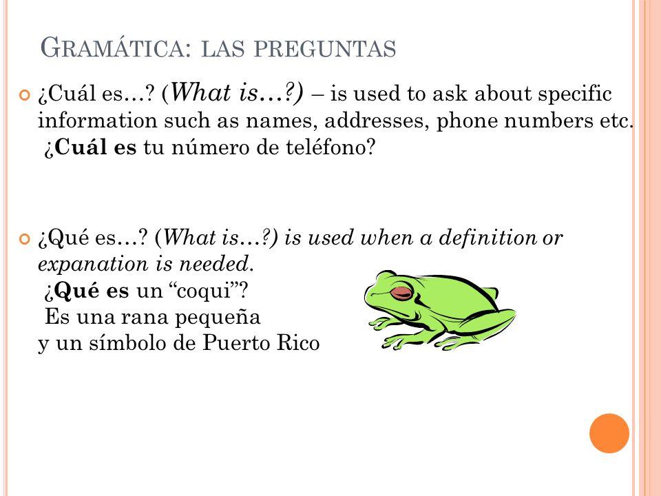 A PRACTICAR 1-32 ¿Cuál es la pregunta.Esther está en Puerto Rico para estudiar español.