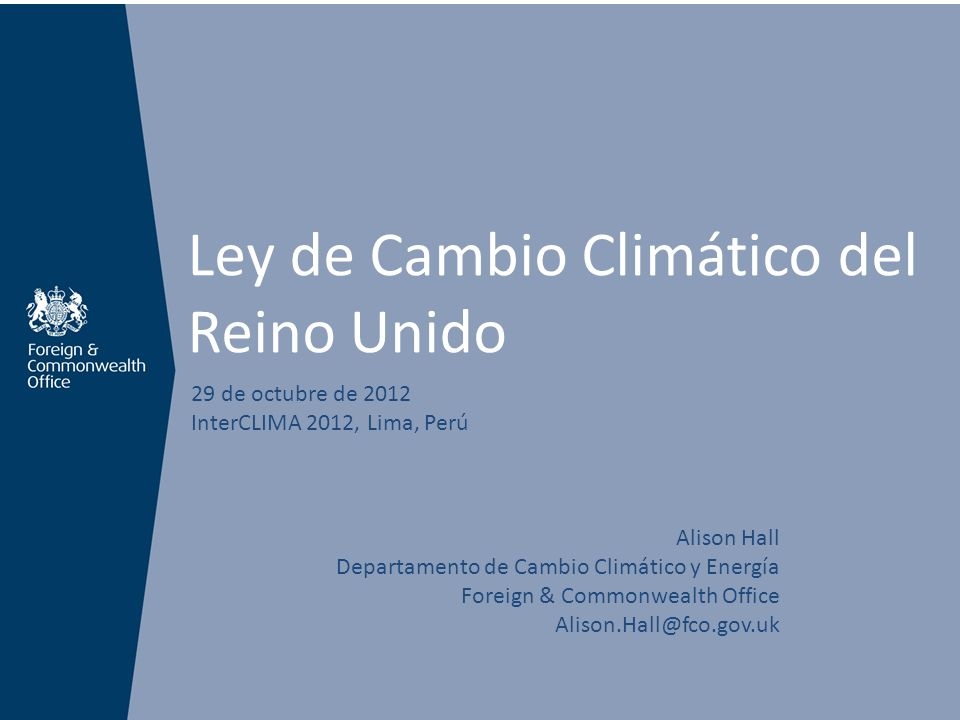 El cambio climático amenaza la prosperidad y seguridad del Reino Unido >La inestabilidad climática en otros países afecta a los británicos.
