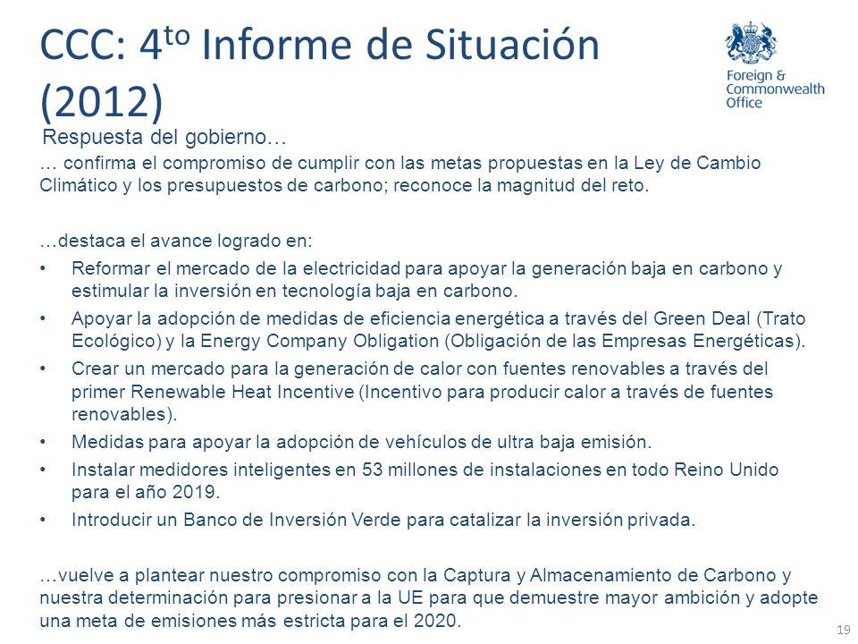 20 Adaptación: Marco Legislativo Proyecciones Climáticas del RU Análisis de Políticas