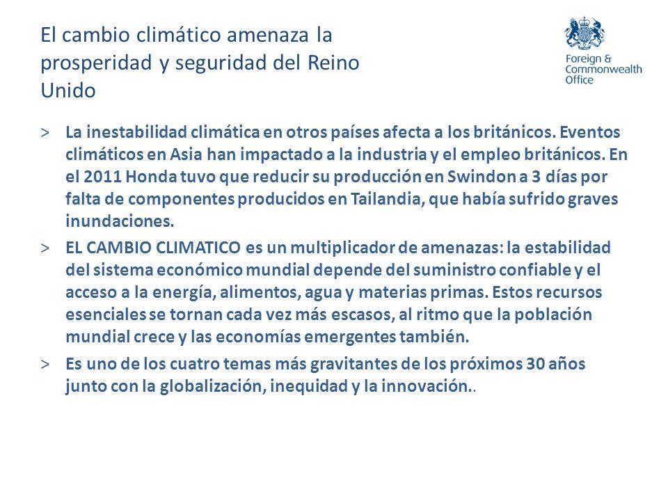 Competitividad y cambio climático >El cambio climático es estratégico para la planeación del desarrollo de todas las naciones.