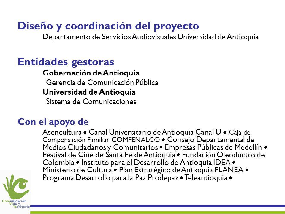 Fuente de datos: Base de Datos COMVITE 30 de abril de 2006 Emisoras Canales Impresos Mapa de medios locales de comunicación en Antioquia